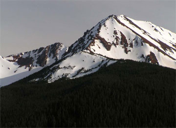 The N side of Eldorado Mountain as seen from the Lower Tyaughton Hiker's Trail