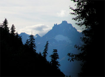 Mt. Meager as seen from Pemberton valley - the source of the Bridge River Ash