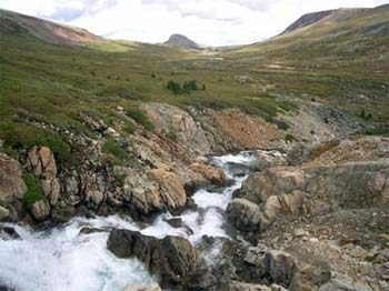 Nadila Creek below 'Nadila Falls' on Dil-Dil Plateau