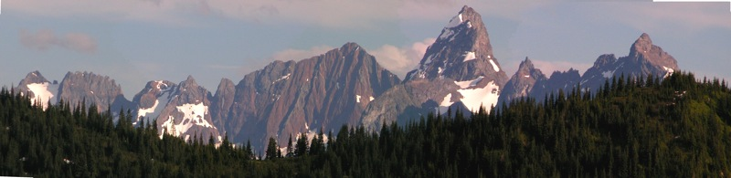 'Border Peaks' skyline as viewed from upper Chipmunk Creek backroads
