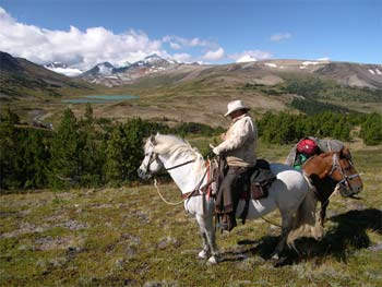 Horseback riding on Dil-Dil Plateau