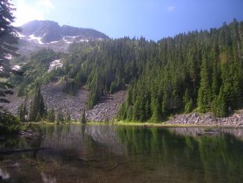 'Radium Lake' with MacDonald Peak above
