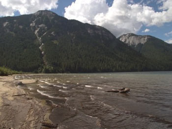 South beach of Chilliwack Lake