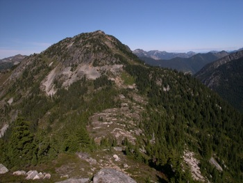'Flora Peak' (E aspect) as seen from side trail off 'Flora Pass'