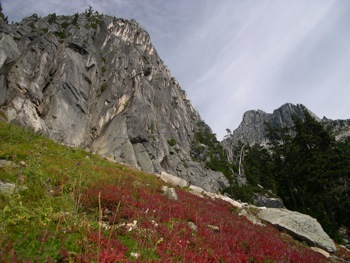 The granitic rock of the illusion and Rexford groups presents unique landscapes