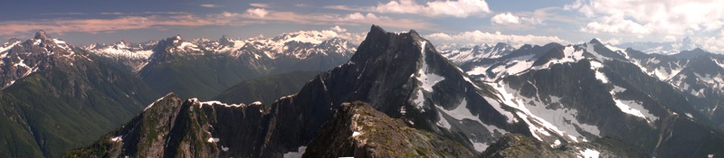 Mt. Lindeman in the forefront and North Cascades behind