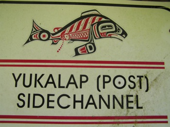 Sign – Spawning channels constructed