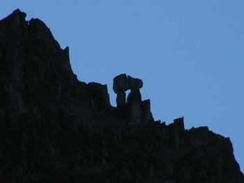 'Pillar Pi' near the summit of 'Mt. Rexford S Peak'