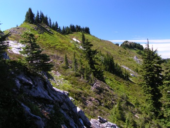 Ridge leading to Mt. Laughington (on far R)