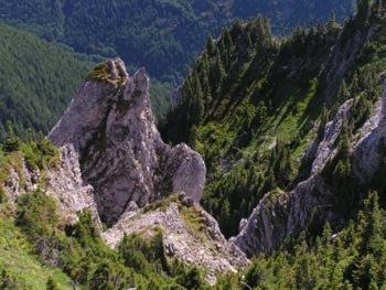 Karst topography displayed along Mt. McGuire's W shoulder