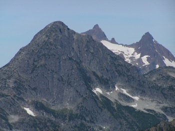 SE aspects of Williams Peak with 'Foley S Peak' and Foley Peak (R) behind