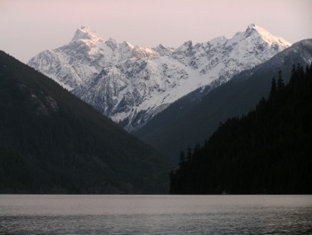 Chilliwack Lake – the view from the Chilliwack Lake Campground