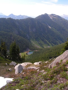 'Radium Lake' with Mt. Corriveau above to R