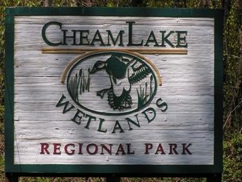 Cheam Lake Park sign