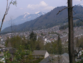 Urban sprawl of the City of Chilliwack near Bridlewood Trail