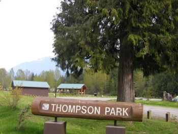 Thompson Park has a great interpretive shelter and spawning channels