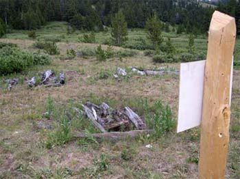Historic grave sites of first nations people in Graveyard Valley