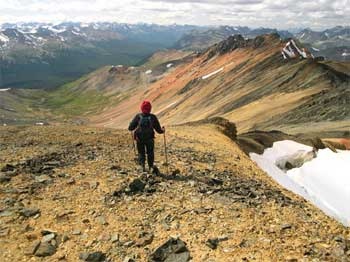 Mountaineering along Warner Ridge S of Iron Pass