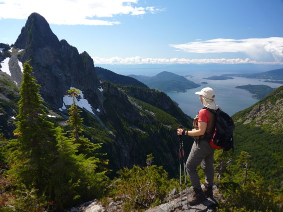 Hiking on the Howe Sound Crest Trail - View of the 'West Lion'