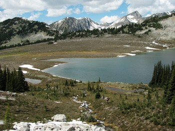 Brimful Lake near Texas Creek Drainage within the Stein Valley Nlaka'pamux Heritage Park