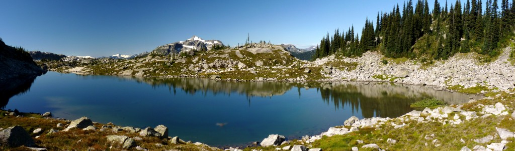Arrowhead Lake in upper Lizzie Creek drainage (Stein Traverse)