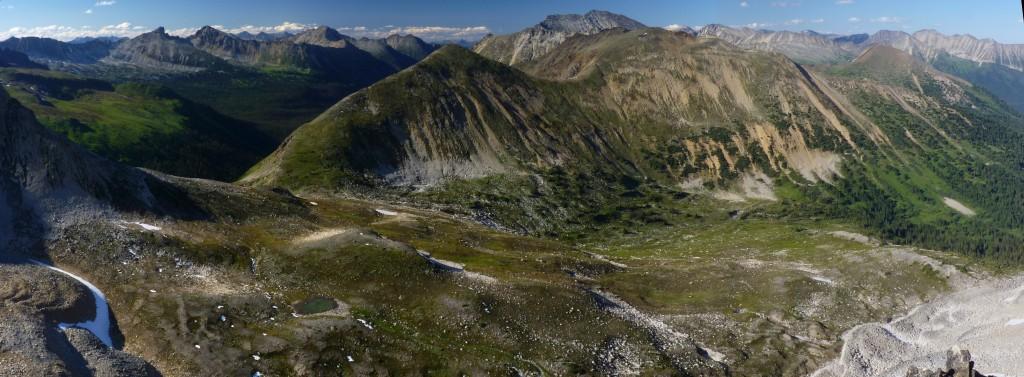 'North fork Cottonwood Creek' basin as seen from near Gott Peak (Blowdown Pass area)