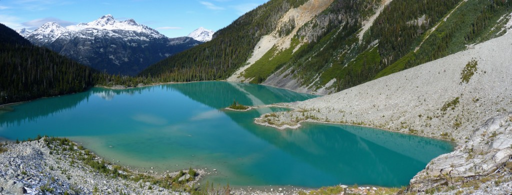 Upper Joffre Lake with Cayoosh Mtn. in background