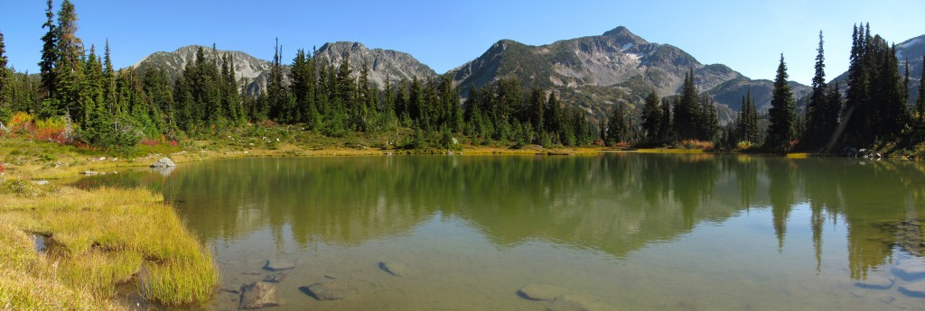 Large pond near Keith's Hut in the Cerise Creek area