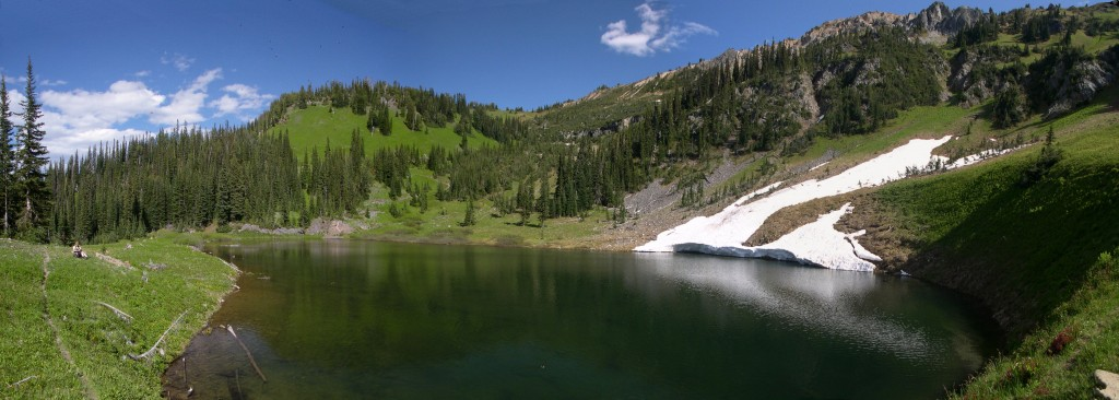 Alpine lake above Silver Queen Mine in upper Cottonwood Creek drainage