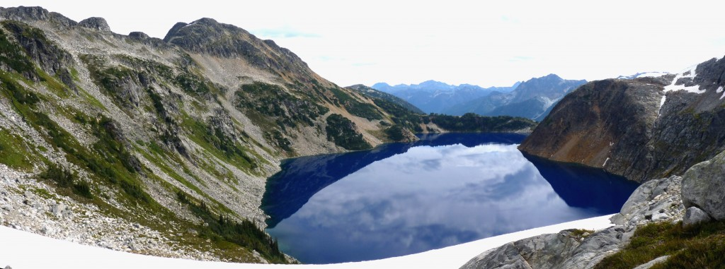 Tundra Lake as seen from the Stein River--Cerise Creek divide (Stein Traverse)