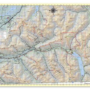 East Chilliwack hiking trail map