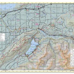 West Chilliwack hiking trail map