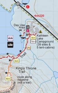 Kluane Trail Map Detail